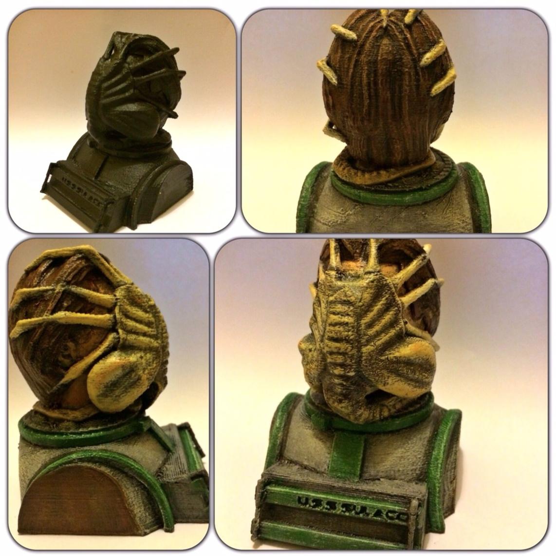 Capture d'écran 2016-12-12 à 19.31.15.png Download free STL file Aliens Face Hugger Bust • 3D printer template, Geoffro
