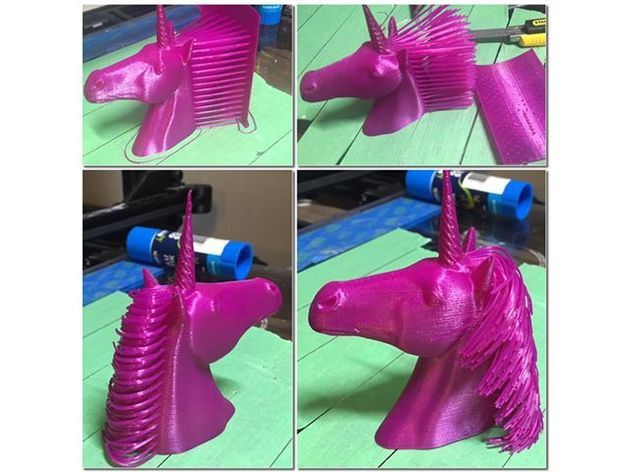 7733717d5aff9e1717b9e07ad3d6acf4_preview_featured.jpg Download free STL file Hairy Unicorn (plus dual extrusion version) • 3D printer model, Geoffro