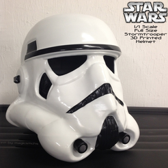 Free Full Scale Stormtrooper Helmet (wearable) 3D printer file, Geoffro