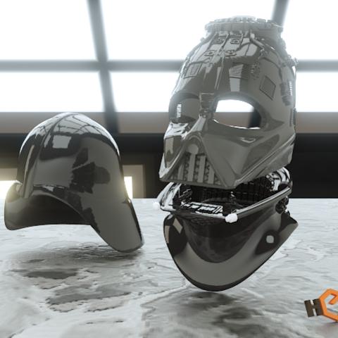 Descargar archivos 3D Darth Vader - Casco de Revelación 3D para Imprimir, Geoffro
