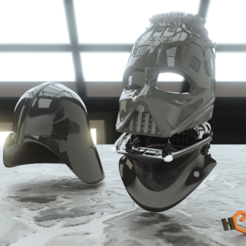 Download 3D model Darth Vader  - 3D Printable Reveal Helmet, Geoffro
