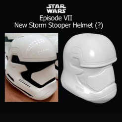Free 3D printer files StarWars EpVII A New Helmet., Geoffro