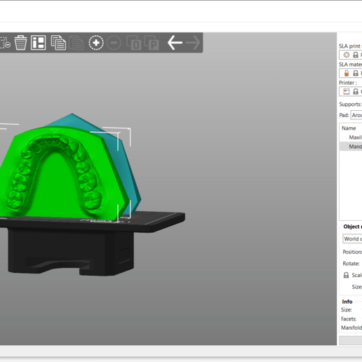 Screenshot_1.png Download OBJ file Digital Orthodontic Study Models with Virtual Bases • Design to 3D print, LabMagic3DCAD