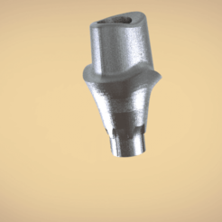stl Digital Custom Screw Retained Abutment , LabMagic3DCAD