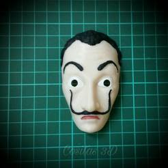 Free STL Mask of dali mask - the paper house, nicolasreynoso