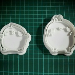 3D printer models Molang cookie cutter, nicolasreynoso