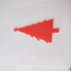 Free 3D print files simple Chistmas tree, LynneStevens