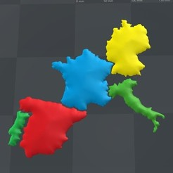 Download free 3D printing designs 3D map, puzzle geography, FORMAT3D