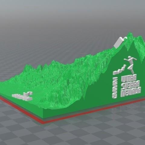 ultra relieve.jpg Download free STL file Ultra Sierra Nevada Running mountain • 3D print design, FORMAT3D
