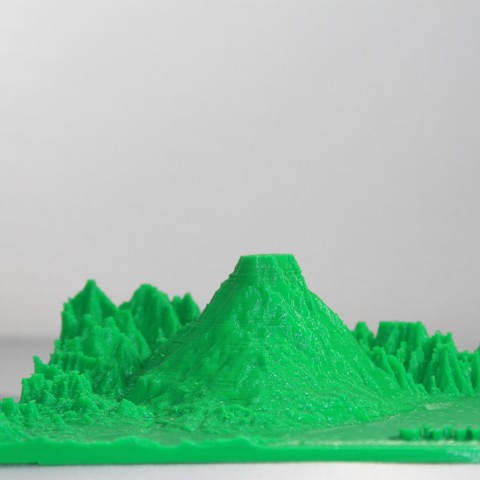 Download STL file Volcan Etna Italy, Mountain • 3D printer model, FORMAT3D