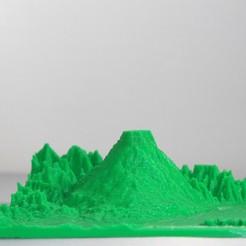 Descargar archivo 3D Volcan Etna Italia, Montaña, FORMAT3D