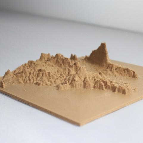 Download STL file 3D map, Javea Calpe Ifac • 3D printing template, FORMAT3D