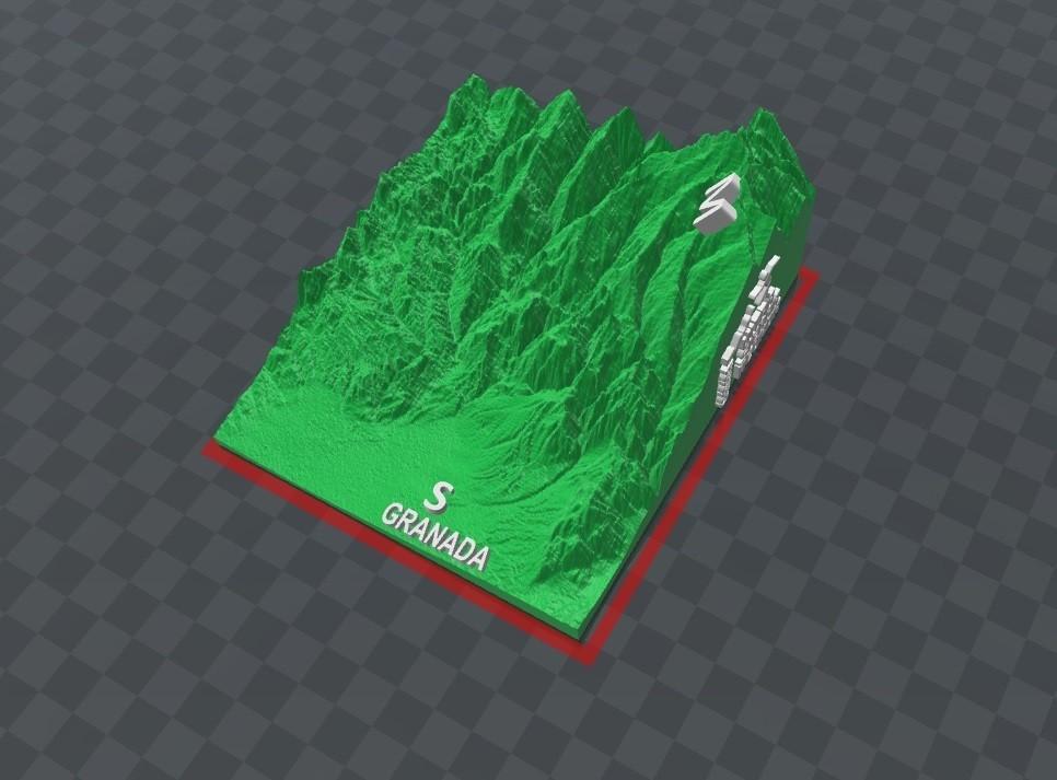 ultra relieve_1.jpg Download free STL file Ultra Sierra Nevada Running mountain • 3D print design, FORMAT3D