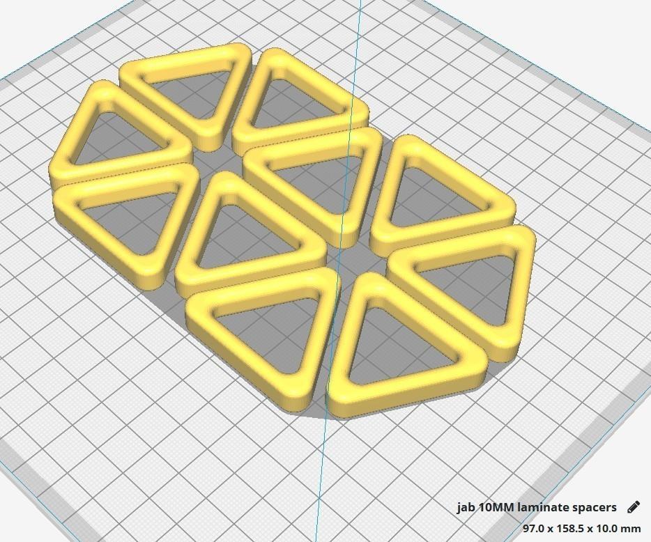 Laminate Flooring Spacers.jpg Download STL file 10mm Laminate Flooring Spacers • 3D print object, JAB