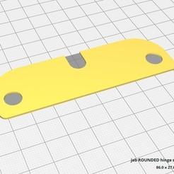 Download 3D model Rounded Corner 3.5 Inch Hinge Shim, JAB