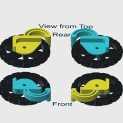 Descargar STL Pinzas de freno de la rueda niveladora de 3 camas de Heavy Duty Ender, JAB