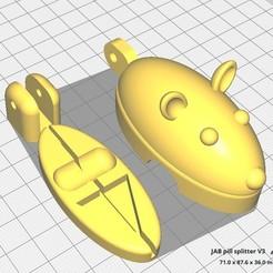 Modelos 3D para imprimir Divisor de Píldoras para Ratones, JAB