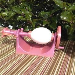 IMG_20200322_145449~2.jpg Download STL file Easter Egg Decorating Lathe • 3D printer model, JAB