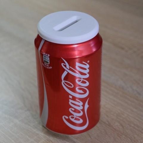 Download free 3D printer designs Money Box - Coca Cola Can, BambeXo