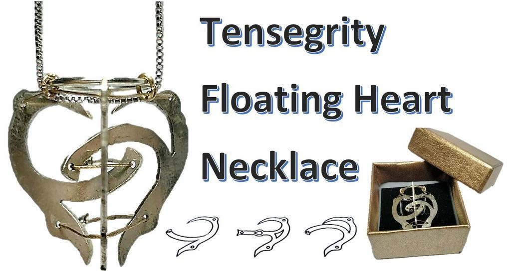 Thumbnail_Heart.JPG Download free STL file Tensegrity Floating Heart Necklace • 3D printer object, Yuval_Dascalu