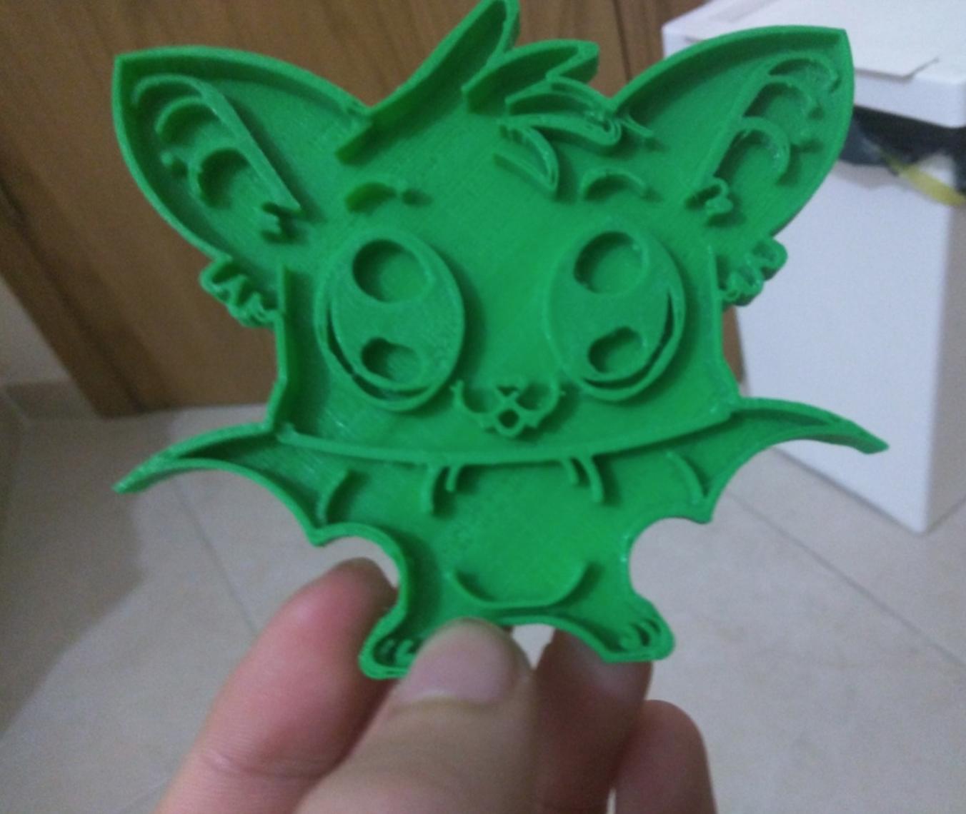 Capture d'écran 2016-12-14 à 16.12.29.png Download free STL file  Detailed Bat Cookie Cutter • 3D printer object, Yuval_Dascalu