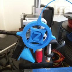 "Free STL files Printrbot Simple Metal ""Z-StarSpike"" Feedwheel, Yuval_Dascalu"