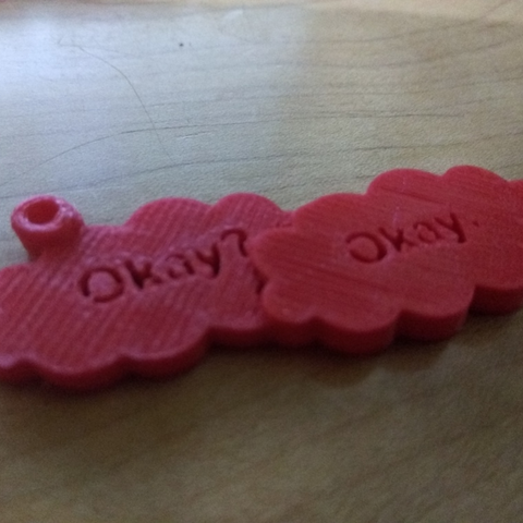 "Free 3D printer files ""Fault in our Stars"" Keychain (Okay? Okay.), Yuval_Dascalu"