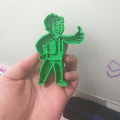 Free 3D printer model Fallout 4 Vault Boy Cookie Cutter, Yuval_Dascalu