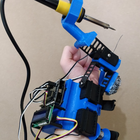 Download free 3D printer templates Helping Hands Operator - Automatic Soldering Tool by Yuval Dascalu, Yuval_Dascalu