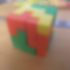 Puzzle_Part_7.stl Download free STL file Bedlam 4x4 Puzzle Cube 60mm³ • Object to 3D print, Yuval_Dascalu