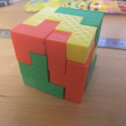 Download free STL file Bedlam 4x4 Puzzle Cube 60mm³ • Object to 3D print, Yuval_Dascalu