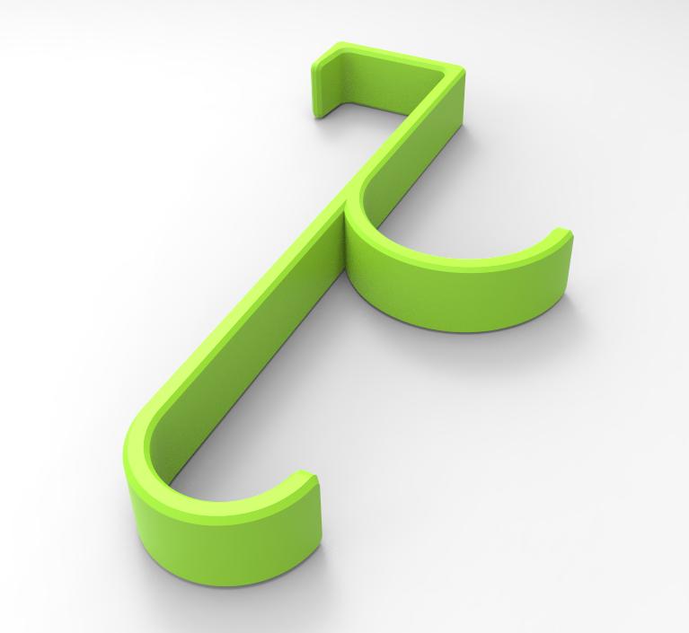 Cabide1.PNG Download free STL file Door Hanger • 3D printable template, Bitencourt