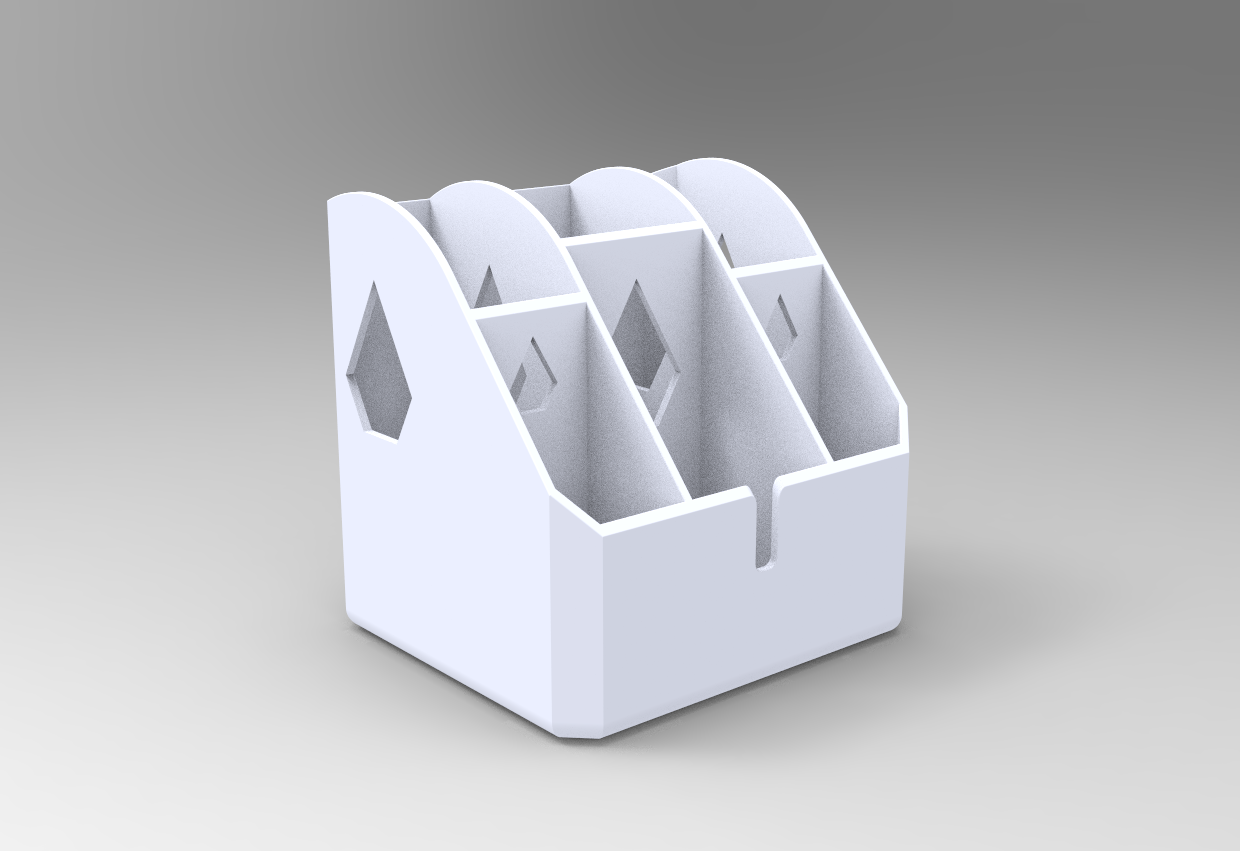 Porta-canetas.PNG Download free STL file Pen Holder for Noob (Very easy to print) • 3D printing design, Bitencourt