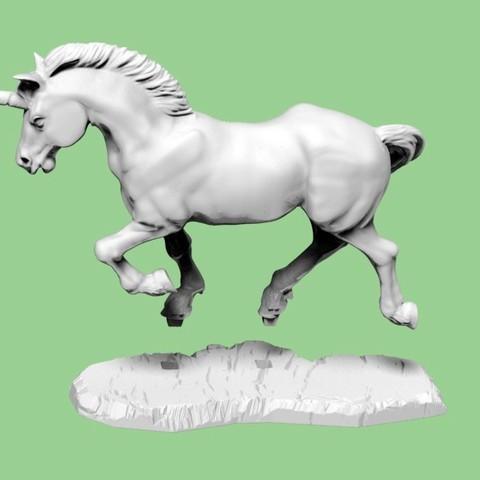 Unicorn fit.jpg Download STL file Unicorn • Template to 3D print, SciFiTim