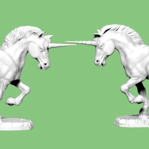 Unicorn.jpg Download STL file Unicorn • Template to 3D print, SciFiTim