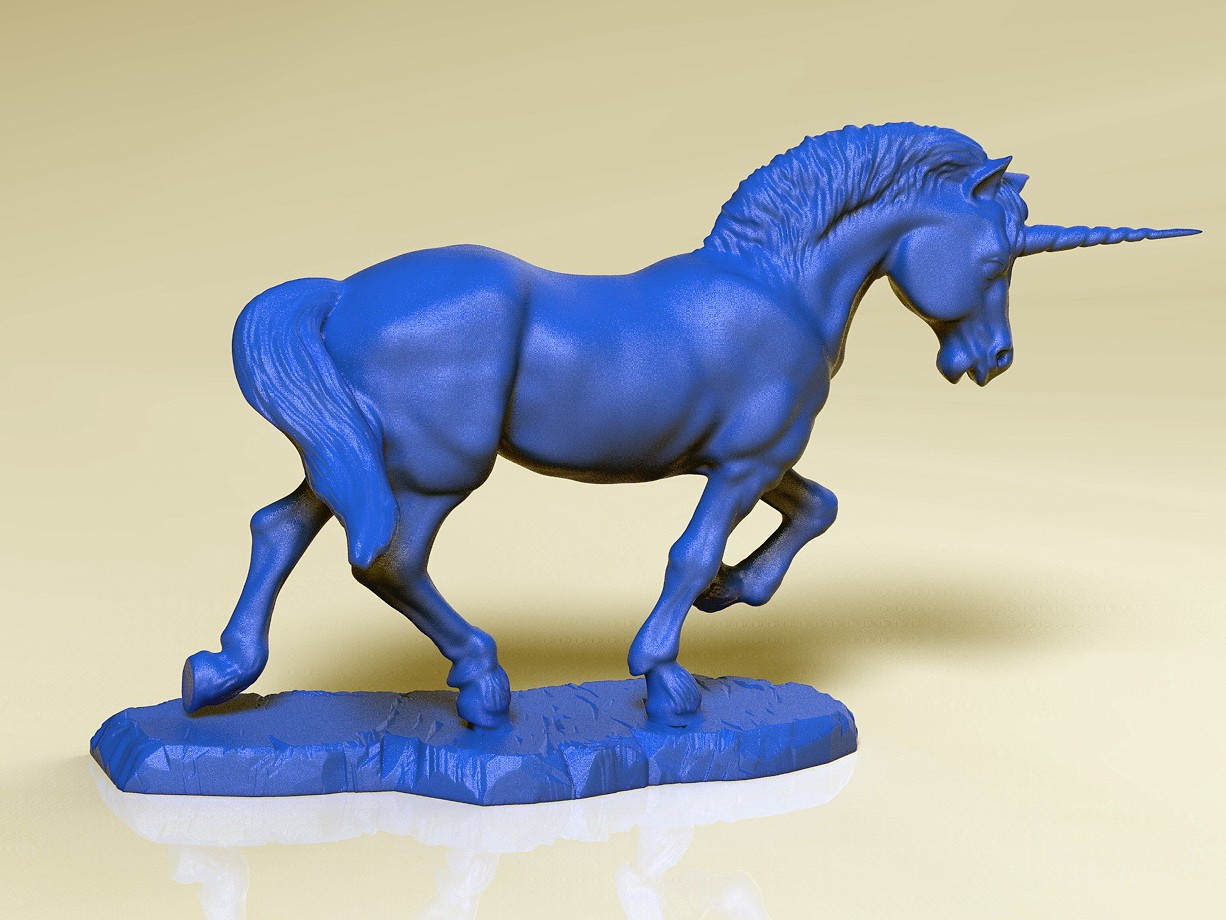 Unicorn Print.jpg Download STL file Unicorn • Template to 3D print, SciFiTim