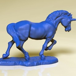 Download STL file Unicorn • Template to 3D print, SciFiTim