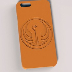 Galactic Republic IphoneCase.jpg Download STL file Galactic Republic Iphone 6 Case • 3D printing design, SciFiTim