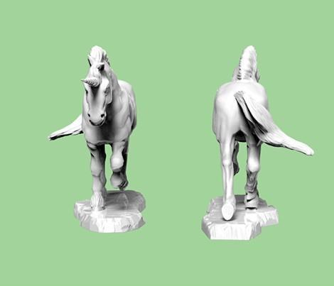 Unicorn.247.jpg Download STL file Unicorn • Template to 3D print, SciFiTim