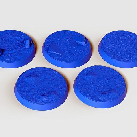 Download STL file Ice Bases 25mm 32mm • 3D printable model, SciFiTim