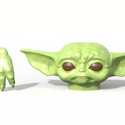 Download STL file Baby Yoda Doll  • 3D print template, SciFiTim