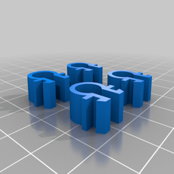 2020Clip_4Piece.png Download free STL file 2020 Cable Clip - Remix • Design to 3D print, FreeBug
