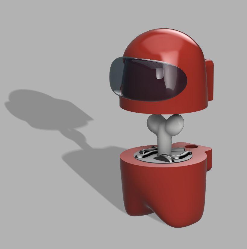 Magnet.jpg Download free STL file Among Us - Dead or Alive • 3D printer template, FreeBug