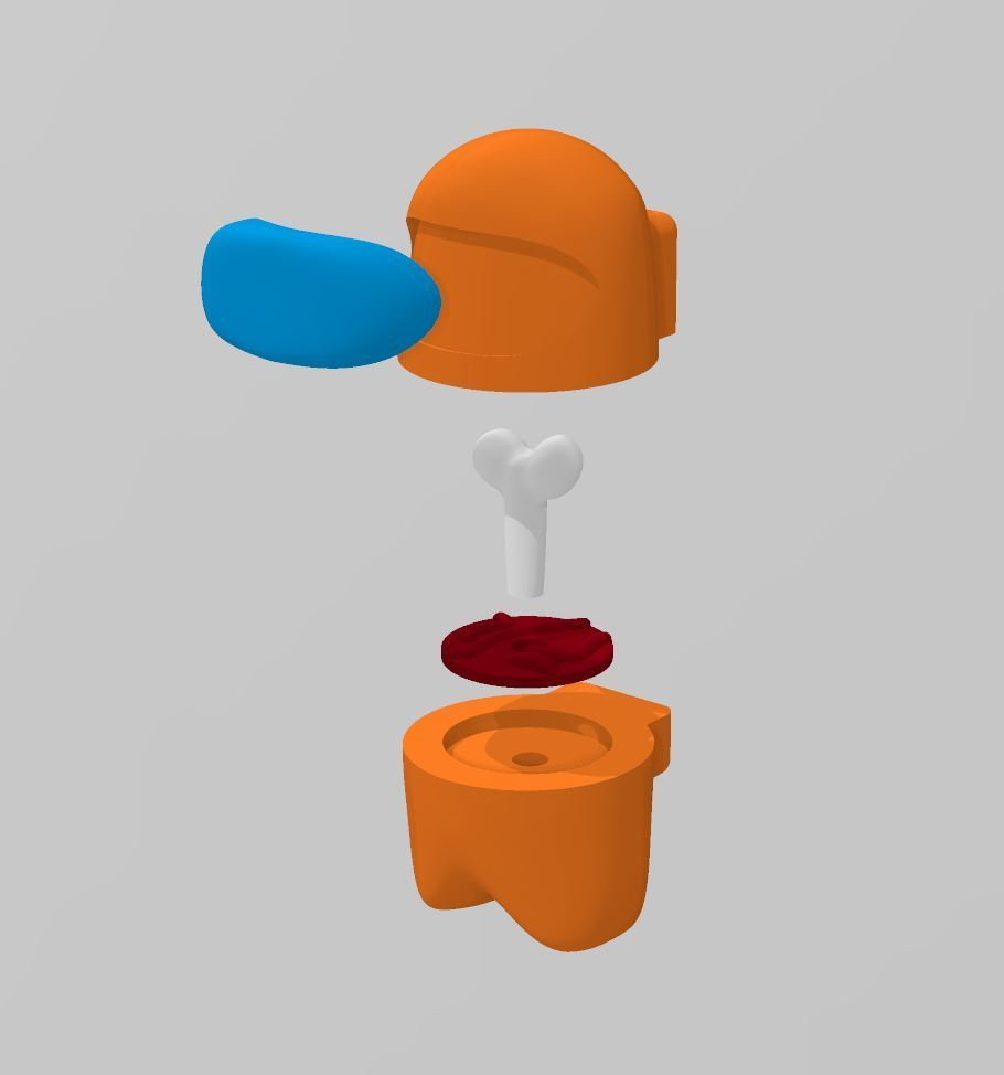 Exploded_View.jpg Download free STL file Among Us - Dead or Alive • 3D printer template, FreeBug