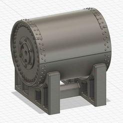 "Upkeep_Stand.jpg Download free STL file RAF Bouncing Bomb - ""Upkeep"" WW 2 • Design to 3D print, FreeBug"