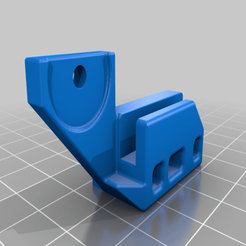 Hotend_cable_relief_V4_WideSlot.png Download free STL file Ender 5 Plus - Hot End Strain Relieve - REMIX • 3D printable template, FreeBug