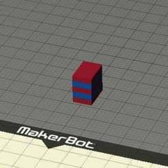 DualBlockTest.jpg Télécharger fichier STL gratuit Test de bloc rapide à double extrusion • Objet pour imprimante 3D, FreeBug