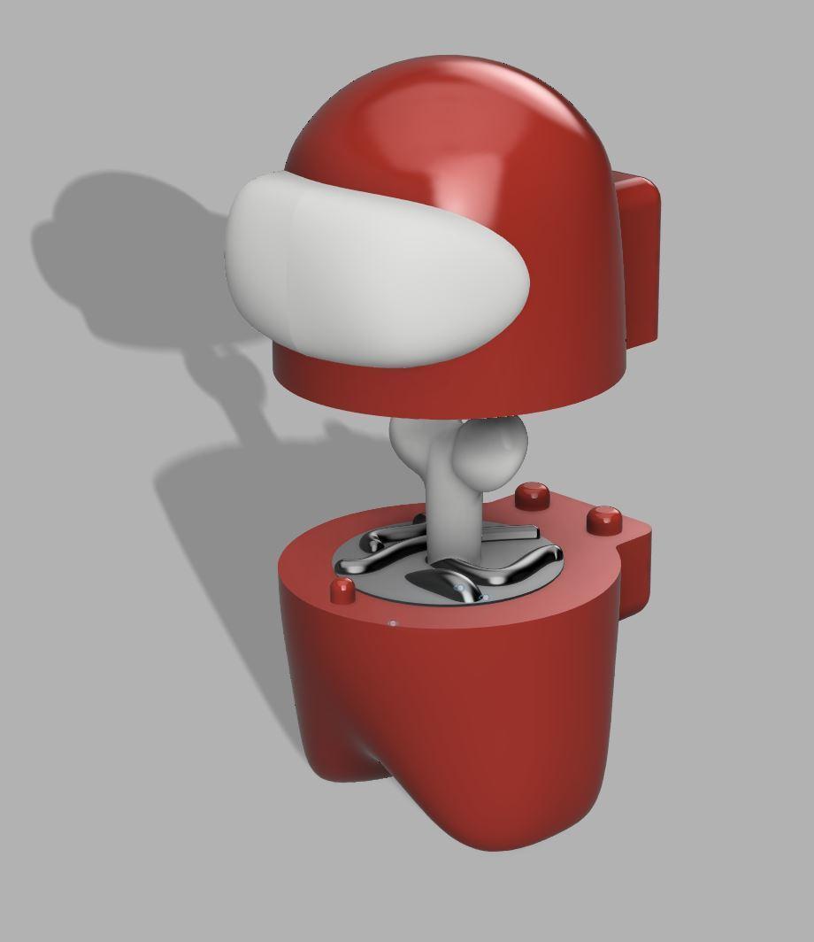 Keyed.jpg Download free STL file Among Us - Dead or Alive • 3D printer template, FreeBug