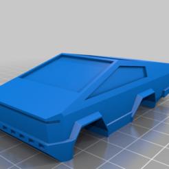 CyberTruck_Body_V2-Anki_Hollow.png Download free STL file Tesla CyberTruck - Anki Drive/Overdrive • 3D print template, FreeBug
