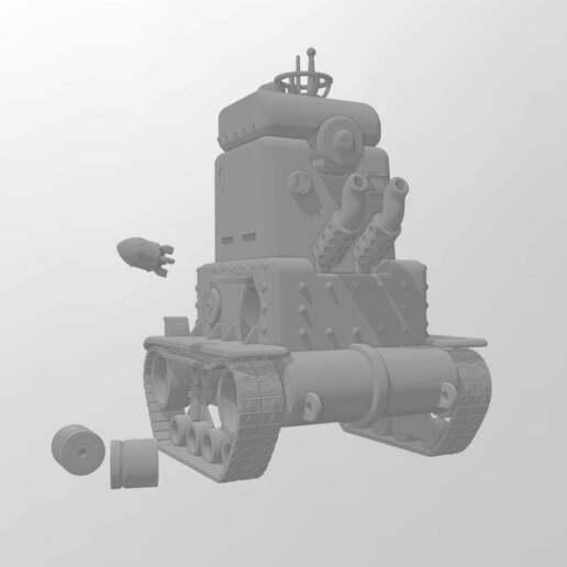 Rear.jpg Télécharger fichier 3MF gratuit LIMACE MÉTALLIQUE - NOP-03 SARUBIE • Plan imprimable en 3D, FreeBug
